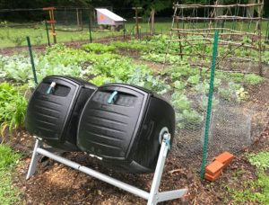 My Lifetime Double Barrel Composter That Resides Near The Garden It Was Actually Embled Upside Down But Still Works Fine